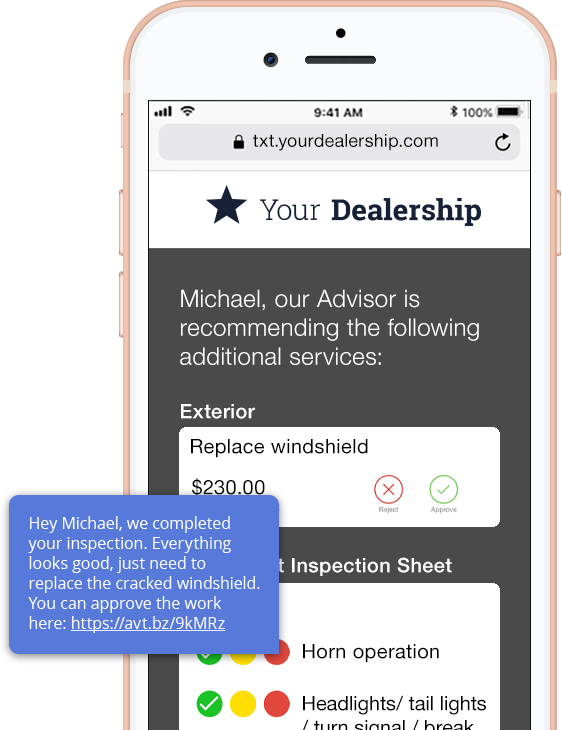 Service texting and messaging for dealerships   LivePerson